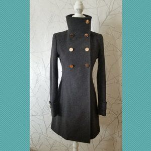 Talula Babaton Wool Blend Bromley Military Coat